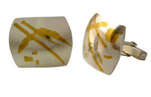 Keum Boo silver cufflinks by Olivia Kelly 2014